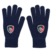 Navy Knitted Gloves
